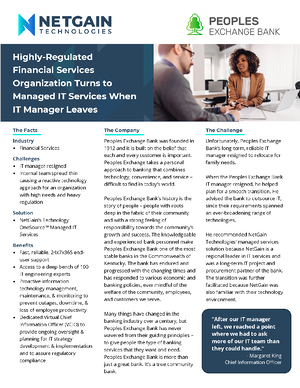 Case Study - Managed IT - Banking - Peoples Exchange Bank pg1